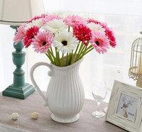 artificial mums - 20pcs artificial silk sun flower mum gerbera chrysanthemi flower home and party decorative flowers festive and party hot sell