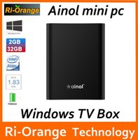 Wholesale Ainol wintel Mini PC stick computer Windows Atom Z3735F Quad Core G G Pocket Box BT4 HD better than voyo mini pc