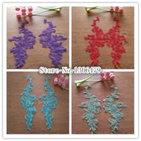 Wholesale 10PC New design purple blue lace wedding dress applique DIY bridal headdress lace collar lace fabric patch RS763