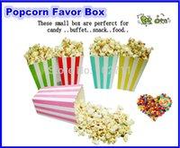 Wholesale 200Packs x Mini Popcorn Boxes Candy Stripes Wedding Party Favour Lolly Box Retro Cinema Pop Corn Free Ship by DHL Fedex EMS UPS