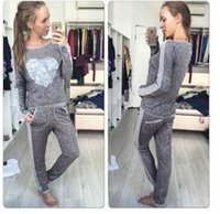 art geometric shapes - Autumn new women s fashion in Europe and America round collar heart shaped printed suit