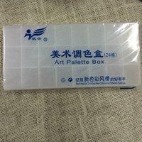 artistic palette - pieces Colors Watercolor Palettes Acrylic Art Paint Supplies Artistic Tray Plastic Paint Palette White School