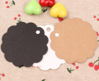 Wholesale 6 cm DIY Kraft Paper Party Wedding Favor Gift Label Wish Greeting Cards Circular Scalloped Blank Tags Luggage Label Clothing Price Hang Tag