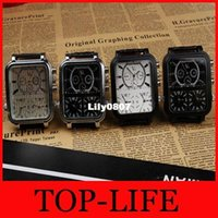 Cheap 2014 Watches Men Watch V6 Brand Fashion Movement Outdoor Sports Large Dial Quartz Watch Leather Strap 3 Time Clock