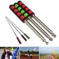 Wholesale 1601 New M Flagpole Guide Portable Extendable Flagpole Windsock Pointer Green Red