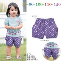 Wholesale children s clothing factory outlets in summer thousands of interest will be girls printed short sleeved dot two piece shorts Chi