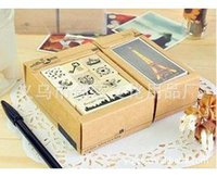 Wholesale Selling South Korea seal seal diverse landscape rollercoaster retro stamp Tower models etc