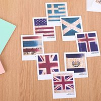 american flag pens - European and American style retro mini boxed postcards into the flag