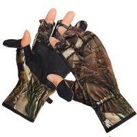 Wholesale Professional Outdoor Sports Non Slip Camouflage Hunting Gloves Multi Camo Tactical CS Gloves Realtree First Finger Can Be half And Full