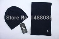 Wholesale Fashion BRAND classic women men wool knit beanies skully hat scarf hat set
