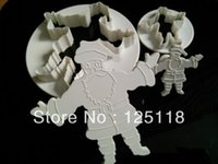 Wholesale factory ten sets of Christmas Father plunger cutter for fondant cake decoration