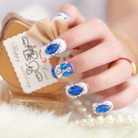 glue applicator - High quality large blue diamond Bridal Party Red Carpet Manicure essential glue applicators
