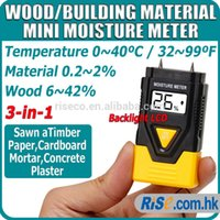 industrial material - 3 in Timber Concrete Pin Moisture Meter Wood Building Material Thermometer