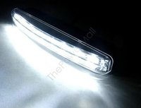 Wholesale New Arrival White Car Bulb LED DRL Daytime Running Lights Head Lamp Top quality