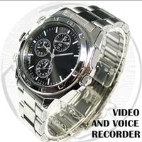 Wholesale 8GB Mini Spy Watch Video Recorder Hidden Camera DVR HD Camcorder USB CABLE with retail box
