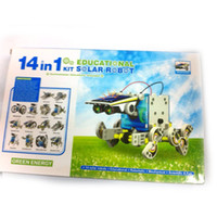 Wholesale Newest Solar power Energy Robot in Solar toys Solar DIY Educational Toys Assembled Toy Solar Energy Kit DHL