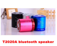 Wholesale T2020A Angel bluetooth Speaker Card USB Speaker computer phone MP3 player metal material T A