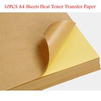 Wholesale 10pcs Top Quality Kraft Paper Heat Toner Transfer A4 Sheets Brown Kraft Printing Copy Label Paper