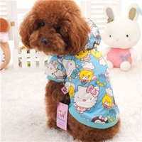 dog coats - 2014 Fashion Cotton Printed Hoodie dog Coat Dog Two legged Clothing pet apparel cat style LCCAD154