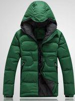 Wholesale Fall New Winter Face jacket men s Outerwear Hooded White Duck Down jacket Man Warm Down Coat Men Down amp Parkas Free