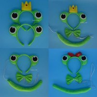 Wholesale Green Lovely Cute Green Prince Princess Frog Headband Christmas Carnival Party Wedding Hair Accessories Children Day Gift