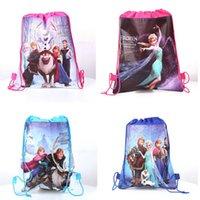 Wholesale 2014 Hot children s bag frozen series Elsa Anna drawstring bags kids backpacks handbags children school bags kids shopping bags present
