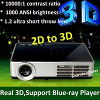 DLP + Build-in 2D to 3D + LED lamp 2d to 3d - 1000ANSI Pico DLP LED Blue Ray D Projector Full HD P Mini D Projector convert D to D Proyector beamer for home cinema office