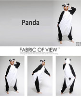 Anime Costumes adult onesies - Panda Kigurumi Pajamas Pyjama Animal Suits Cosplay Costumes Adult Garment Flannel Cute Cartoon Animal Onesies Sleepwears VT