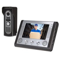 Wholesale Wired quot TFT Color Video Door Phone Intercom Doorbell Home Security System Kit IR Camera Monitor Speakerphone Video Intercom order lt no tra