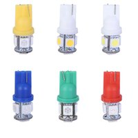 Wholesale 20pcs T10 V Colorful SMD LED W5W Car Side Wedge Tail Light Lamp License Plate Super Bright Bulb Red Blue White Green Yellow