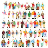 ho scale - 100 Painted Model Train Passenger People Figures HO Scale assorted poses