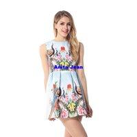 Cheap New 2015 Women Casual Print Dress European Style Vest Vintage Dresses Women Clothing Vestidos Dress Plus Size
