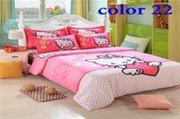 Wholesale Cheap Bedding set dark blue grid King Size fashion Bed set Luxury Bed sheet sets Bed Linen Duvet Cover Bedclothes Bedspread