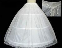 hoop skirts - 2015 Wedding Dress Petticoats Ball Gown Slip Floor Length Hoop Skirt Petticoat Crinoline Underskirt Cheap Under Free Size In Stock FY63
