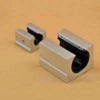 Wholesale 2pcs SBR25UU mm Linear case unit linear blocks for cnc router SME25UU linear ball bearing CNC parts DIY kit