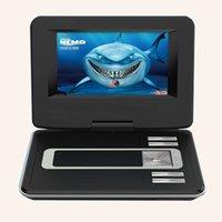 9.8 reproductores portables del VCD de la pulgada DVD con el puerto análogo del USB de la TV MP4 MP3Support de la función FM de las funciones FM, juego Freeshipping de la tarjeta del SD