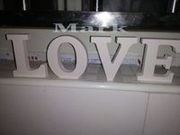 interior decor - Love sign wooden wall decor wedding or home decoration interior signs painted white wood letters