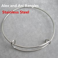 adult ani - 20pcs cm cm Alex and Ani Stainless Steel Expandable Wire Bangles Adult Kid Size AAB088
