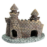 Wholesale 1Pcs Aquarium Castle Ornament Castle Tower Fish Tank House Shrimp Cave Craft Decor