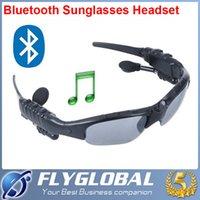 bluetooth headset sunglasses - 2016 Wireless Bluetooth Sunglasses Headset Sunglass Stereo Sports Headphone Handsfree Earphones Music Player for iPhone Samsung HTC top sale