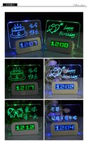 Wholesale Children Message Board usb charging students electronic alarm clock creative personality bedside alarm clock mute luminous