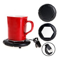 Wholesale Best Promotion Luxury Black USB Portable Powered Cup Mug Coffee Tea Drink Heater Warmer Tray Pad Dish