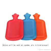 Wholesale 11 Inches ML Capacity Double Faced Anti hot Large Soft Thick Rubber Hot Water Bag Warm Water Bottle Hand Warmers A3