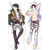 attack on titan body pillow - Attack on Titan Levi Rivaille Animation Dakimakura Anime Hugging Body Bedding Pillow Cover Case Print Cushion Free Ship BZ0107