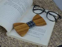 railroad ties - Wood Railroad ties Gentleman ties Wooden Bow Ties ties for wedding High Quality Cheapest Bow Tie Wood Bow Tie for men Creative Gifts