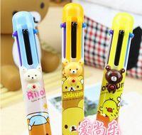 bear fountains - New Bear cartoon six color design ballpoint pen school stationary