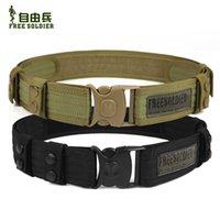 acu belts - Tactical swat outdoor belt out band belt camping tactical belt supplies military belt men Size cm Black CP ACU Mud Color