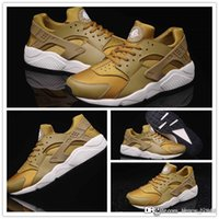 camping table - 2016 New Cheap Air Huarache Running Shoes For Women And Men Brand Breathable Huaraches Tyrant gold couple shoes Trainers Size EU36
