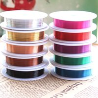 copper wire for jewelry - 0 mm Diameter m roll accessories jewelry for DIY colored copper wire Metal crafts lFitting
