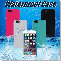Cheap For Iphone 6 plus Case 100% Sealed Waterproof Case Full Cover Transparent Screen Protect Soft TPU Gel Front & Back Case DHL Opp Package